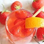 Лимонад клубнично-малиново-апельсиновый