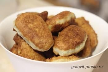 Жареные пирожки с картошкой – рецепт с фото дома
