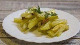 Хрустящая и аппетитная картошка фри в духовке